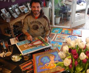 Anderson-Farah-schilderen-gevelstenen-schilderworkshop-expositie-Alkmaar